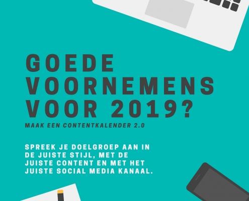 Social media contentkalender 2019